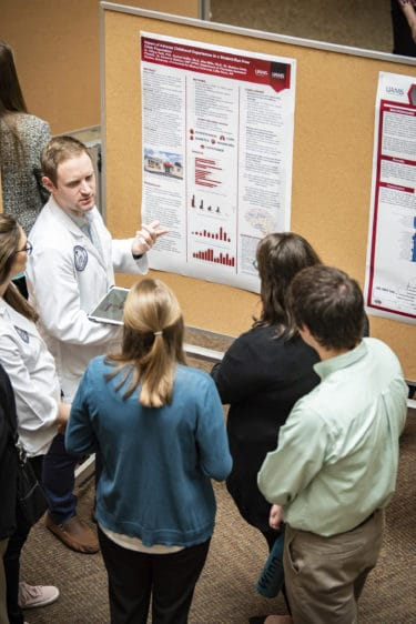 Students at science posters