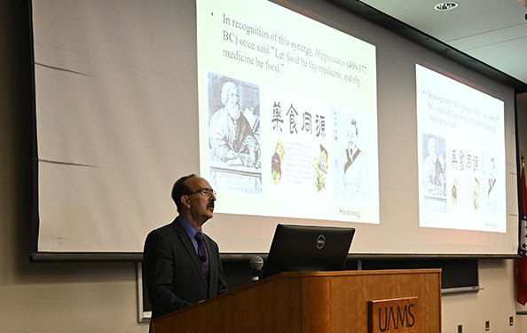 """Today we realize there's a place for functional or medicinal food,"" said Bahram H. Arjmandi, Ph.D., who recently spoke about at UAMS in celebration of National Nutrition Month."