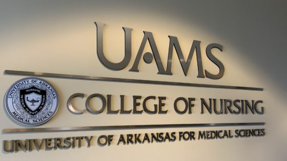 UAMS College of Nursing sign