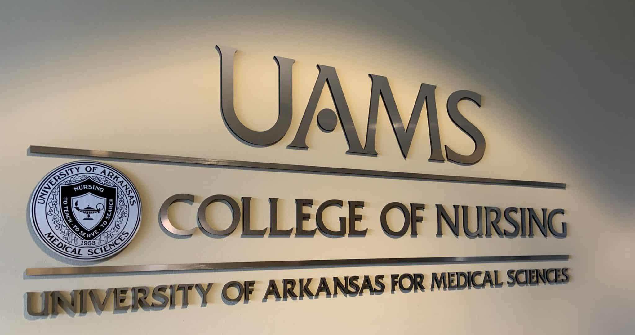 UAMS College of Nursing sign