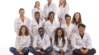 Group portrait of INBRE students