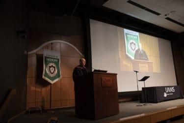 Dr. Westfall at podium