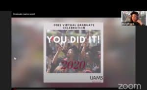 A virtual celebration hosted by the Division for Diversity, Equity and Inclusion invited all UAMS graduates.