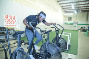 Freeman on bike