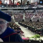 Screen shot of Dr. McGehee at virtual hooding
