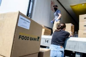 Over 200 quarantined or isolated families were reached with the emergency food box deliveries.