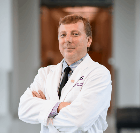 Igor Koturbash, M.D., Ph.D., led the study finding that CBD can harm the gut microbiome.