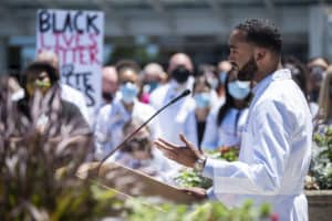 Jerry Walters II, M.D., describes systemic racism he's faced personally.