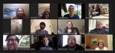 Zoom screen shot of interns