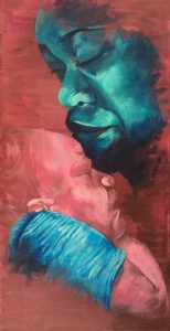 "Lisa Headley, a UAMS medical student, submitted ""Mother and Child,"" a painting she created in her Art and Medicine class."