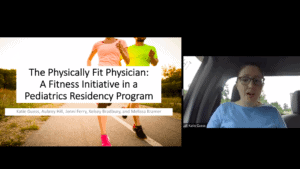 """Kimberly Guess, M.D., M.P.H., a resident at Arkansas Children's Hospital, presents """"The Physically Fit Physician: A Fitness Initiative in a Pediatrics Residency Program."""""""
