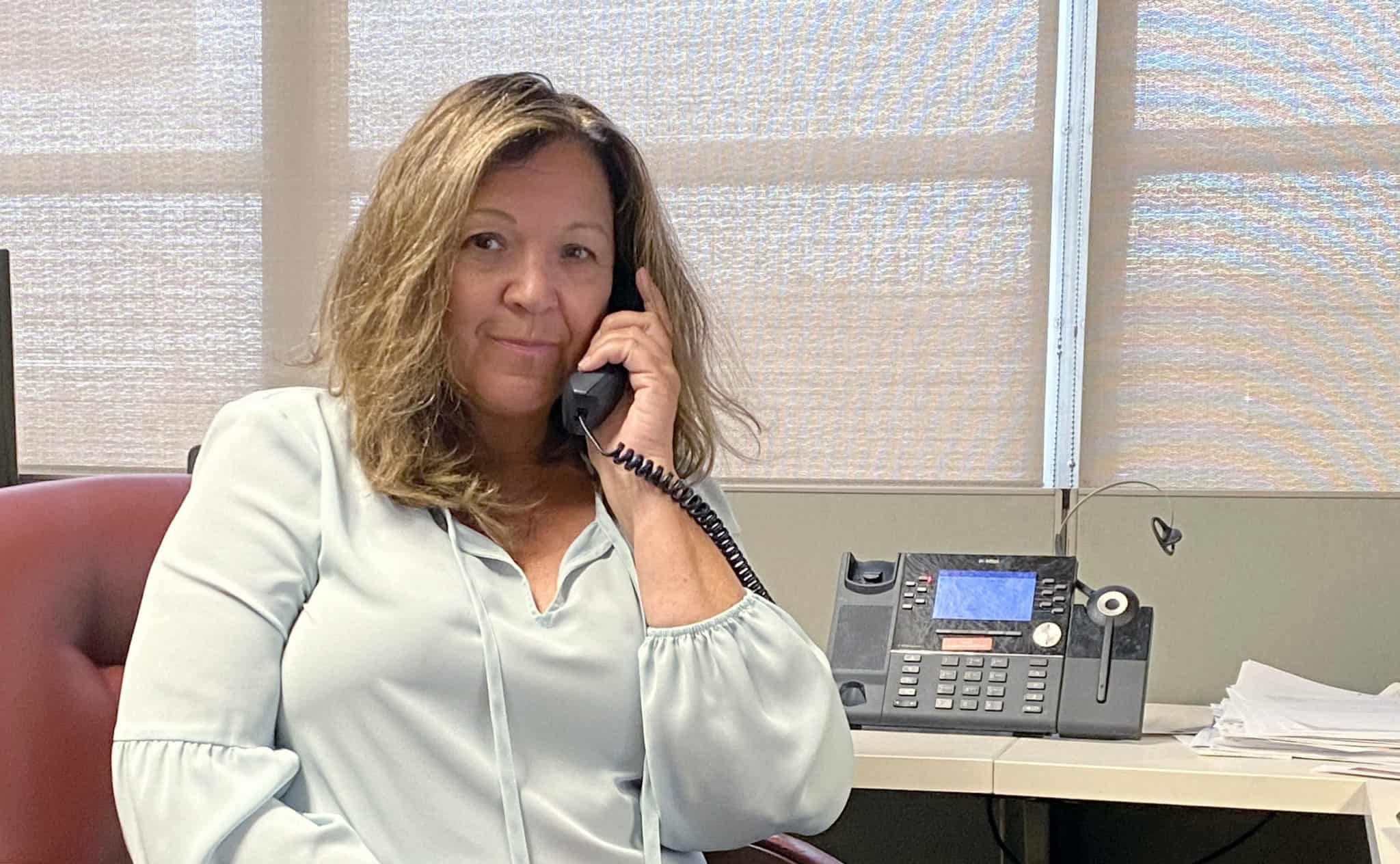 """Susan McDougal, director of pastoral care at UAMS, is one of several volunteers for Supportive Conversations, a 24/7 hotline for UAMS employees who need to someone to listen. """"Being able to talk to someone who understands what you're going through and can talk with you through your immediate crisis is so valuable."""""""