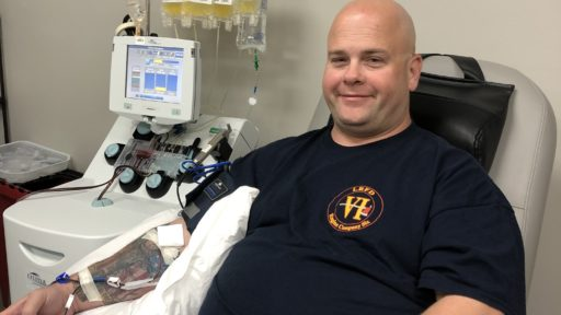 After overcoming COVID-19,John Fulbright donates blood plasma to a UAMS-led effort to find uses for it treating the ongoing pandemic.
