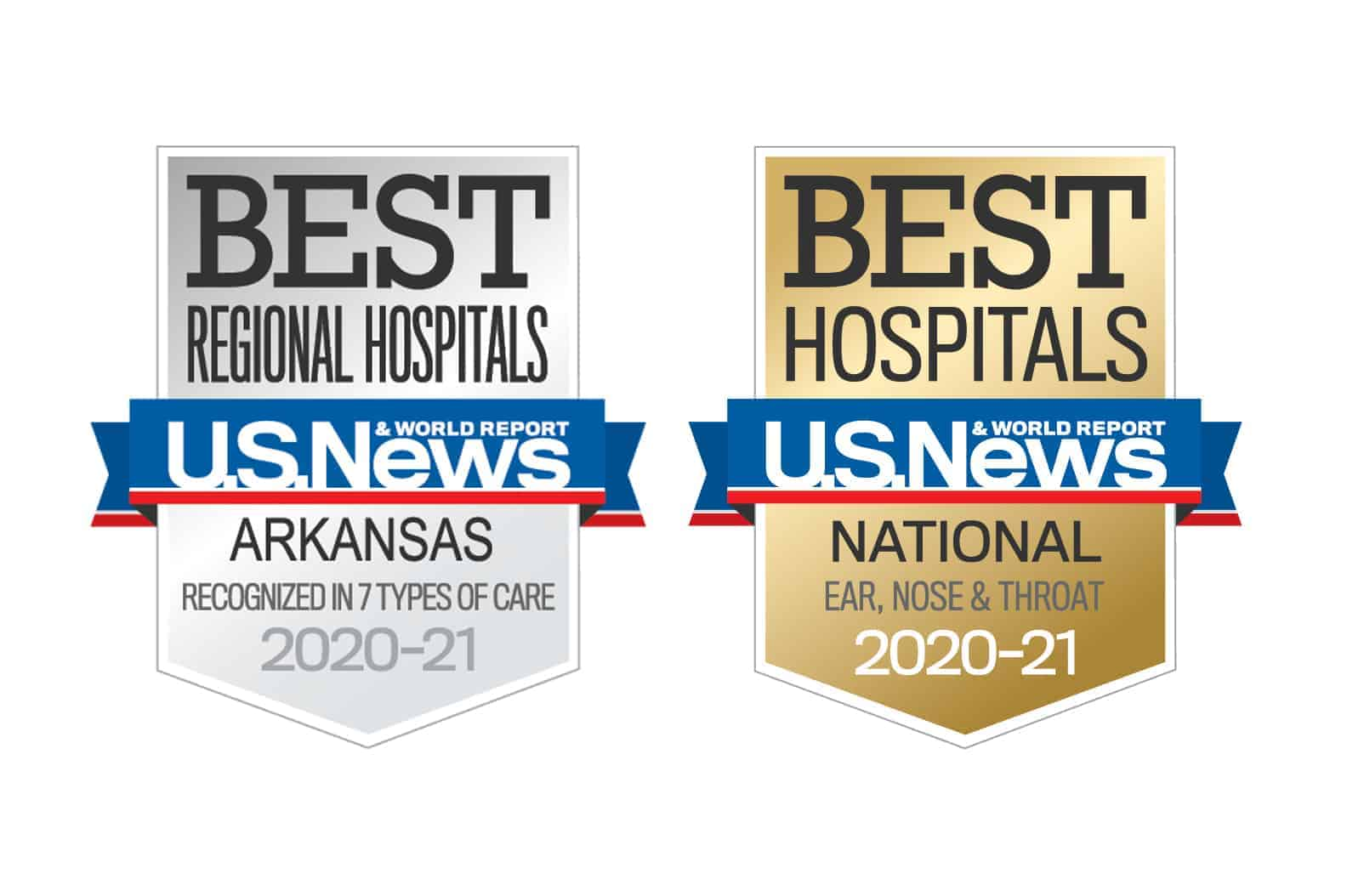 Badges for best hospital and top ENT