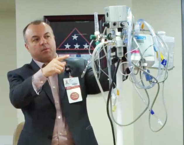 Jeff Halbert, director of UAMS Respiratory Care, discusses the use the high-flow nasal cannula on an All Sites Call.