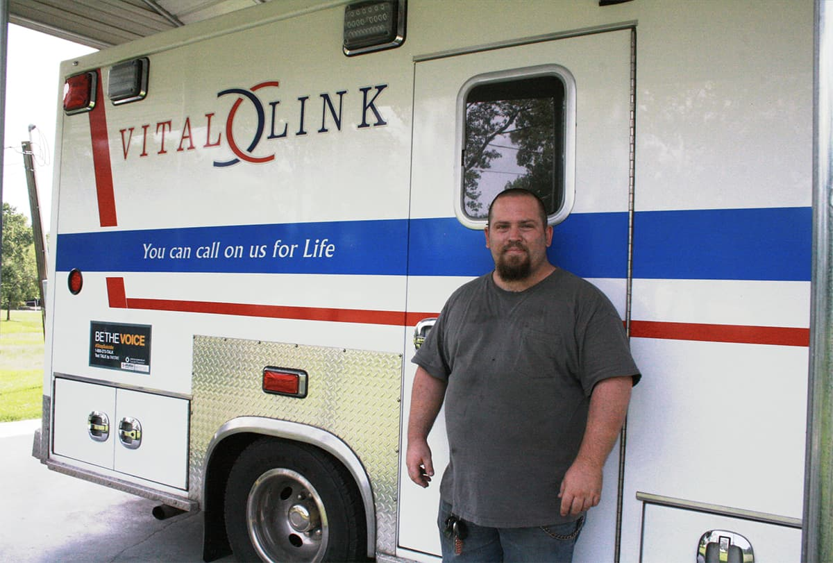 John Jansky, 27, credits the quick responses of the UAMS IDHI Stroke Program and Vital Link EMS of Izard County for his quick recovery from a stroke.