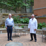 Thomas Kelly, Ph.D., (left) and Richard Nicholas, M.D., received a $780,000 grant from the National Cancer Institute to offer a summer research experience for UAMS College of Medicine students.