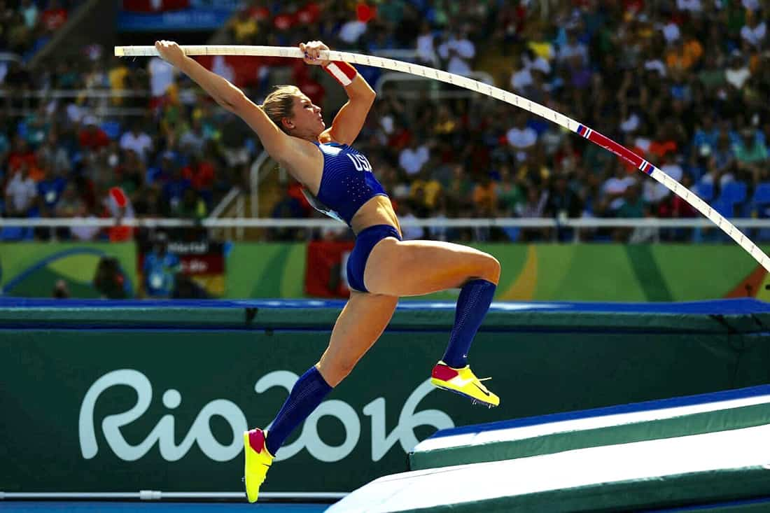 Lexi Jacobus just before she pole valuts while competing in the 2016 Olympic Games in Rio de Janiero.