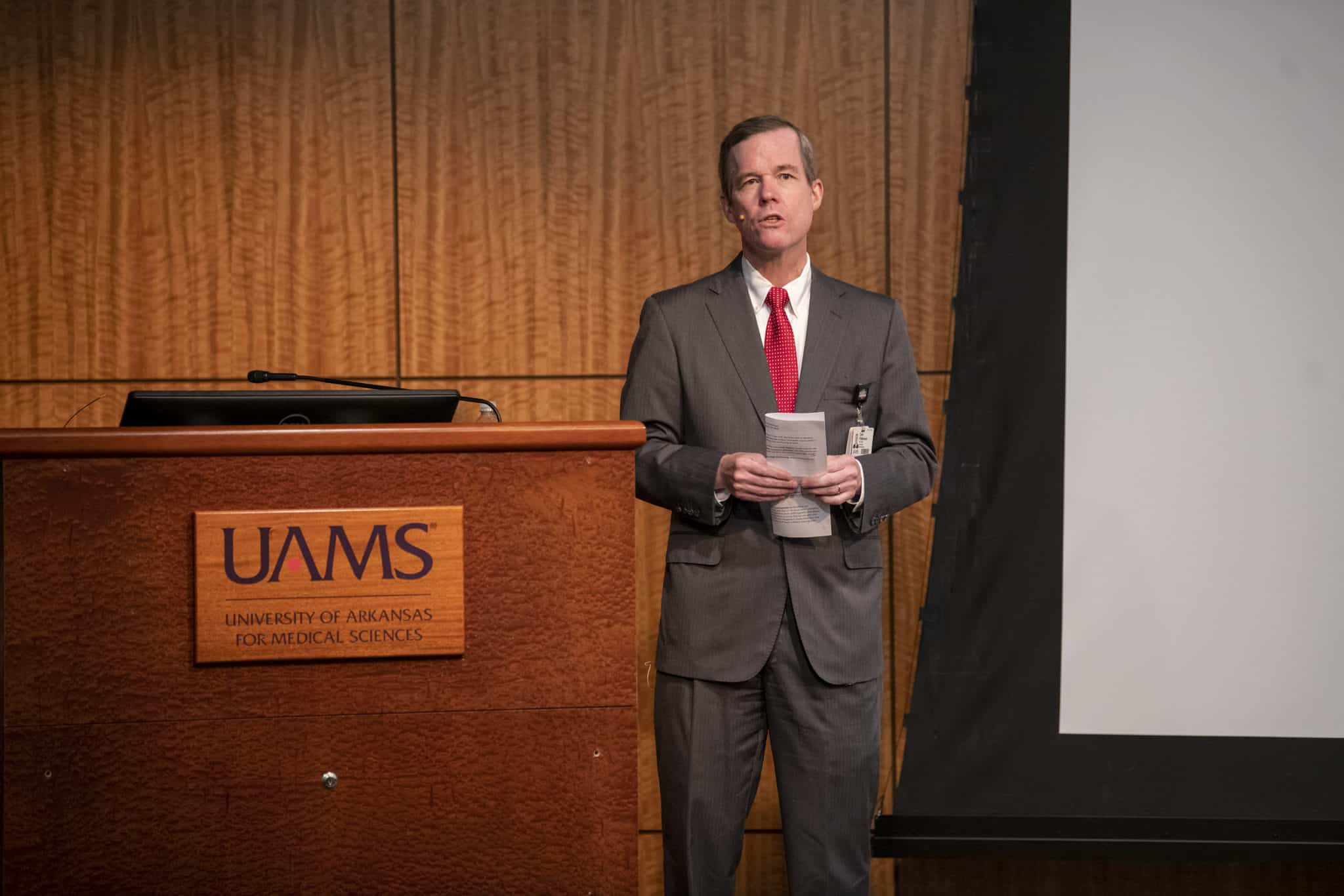 "Recent accolades, including recognition by U.S. News & World Report for the second year, show that ""UAMS is providing top-notch health care and education to the people of Arkansas,"" Chancellor Cam Patterson says at an Aug. 12 Town Hall."