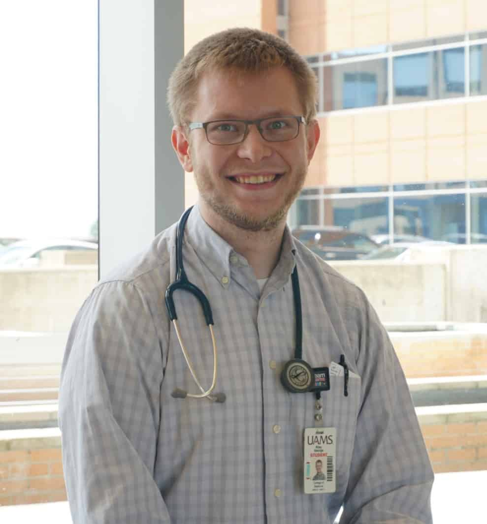 George graduated from Greenwood High School and received his undergraduate degree from Harding University in Searcy. He intends to practice family medicine, preferably near his family in Greenwood and Searcy.