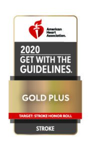Get with the Guidelines Target Stroke Honor Roll Gold plus Award