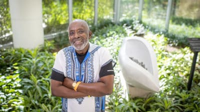 """""""The staff at the UAMS Myeloma Center has always made me feel like they are concerned about my well-being and that I get the best of medical and bedside care available,"""" said Hosea Long of Little Rock, former associate vice chancellor and chief human resources officer, and a 20-year survivor of myeloma."""