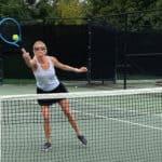 Steadman playing Tennis