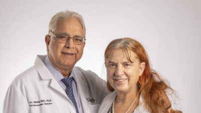 """Jawahar """"Jay"""" Mehta, M.D., Ph.D., and Paulette Mehta, M.D., M.P.H., have created the Drs. Paulette and Jay Mehta Award in Creative Writing to encourage creative expression at UAMS."""