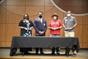 From left: Wendy Kay McCloud, Brian Gittens, Ed.D., Carla Lovett, Eric Wiggins