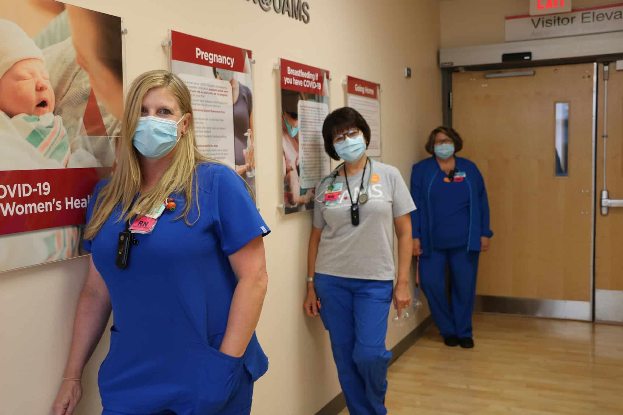 Nurses in hall
