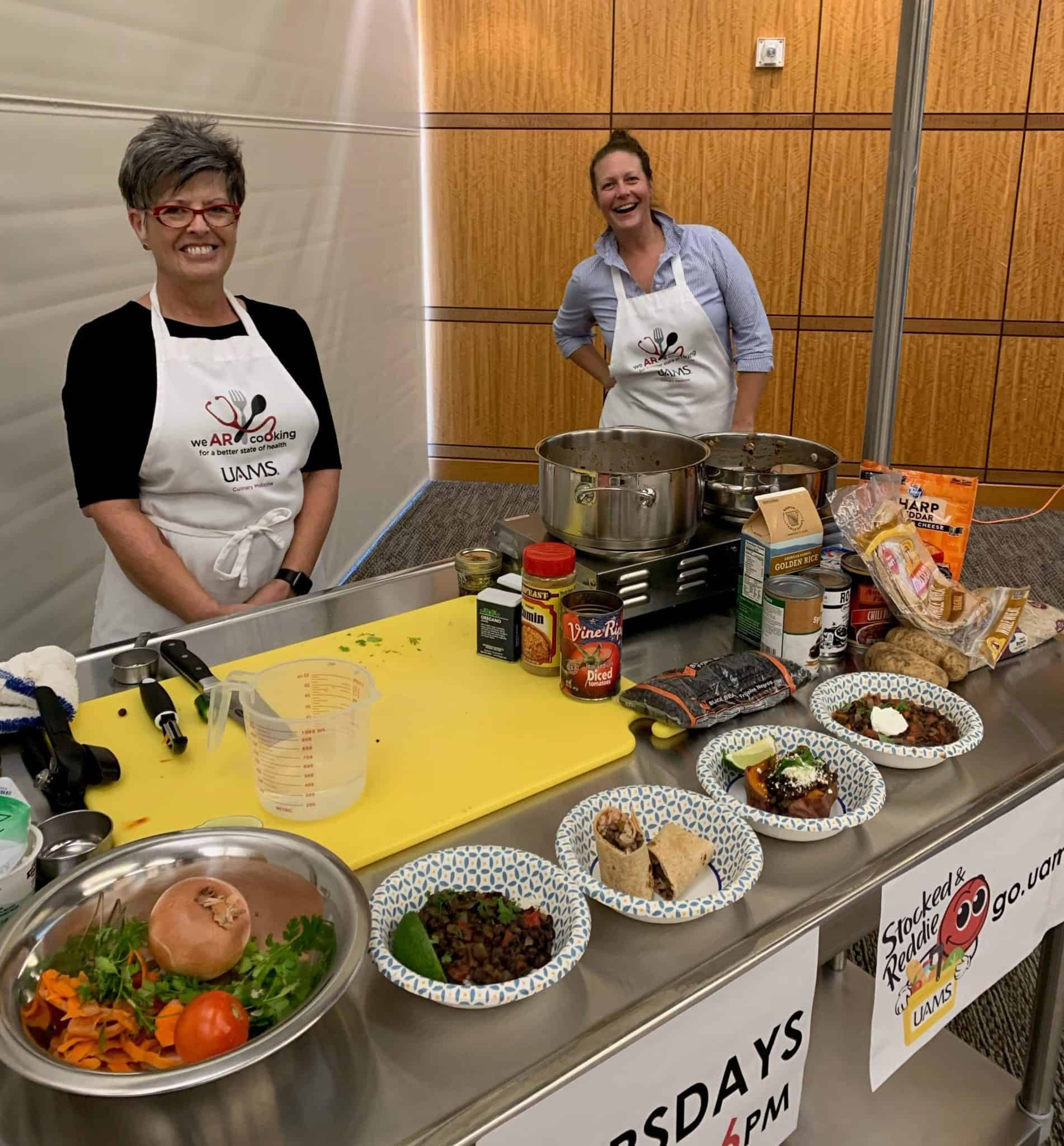 Margaret Pauly, a registered dietitian, joins Mande Corbett from Stocked and Reddie to demonstrate how to prepare Cuban black beans.