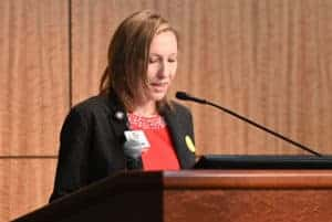 Chief Financial Officer Amanda George reports a better than expected financial picture for UAMS.