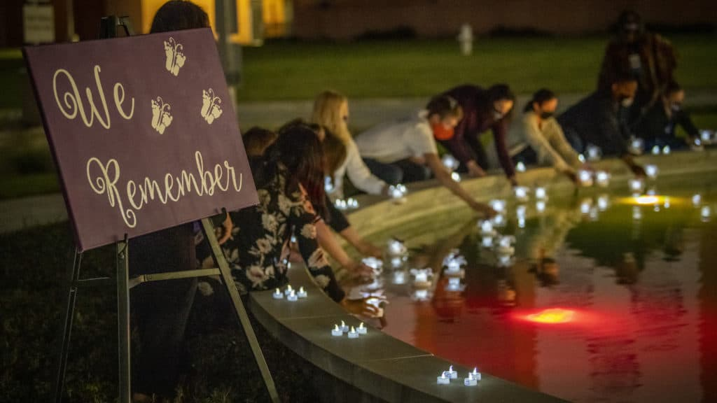 "<p>UAMS organized a ceremony outside the medical center to observe Pregnancy and Infant Loss Awareness Month and remember grieving families.</p> <div><a class=""more"" href=""https://news.uams.edu/2020/10/28/uams-remembers-those-grieving-pregnancy-and-infant-loss/love-lives-remembrance-10162020-850_3181/"">Read more</a></div>"