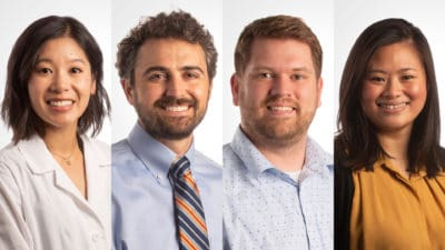 San Bui, M.D.; James Scott Steele, M.D, Ph.D.; Toby Belknap, M.D.; and Ming Hwei Yek, Psy.D. recently joined the Psychiatric Research Institute.