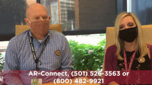 Tony Boaz and Christie Kelly talk about AR-Connect, which provides mental health treatment via telemedicine.