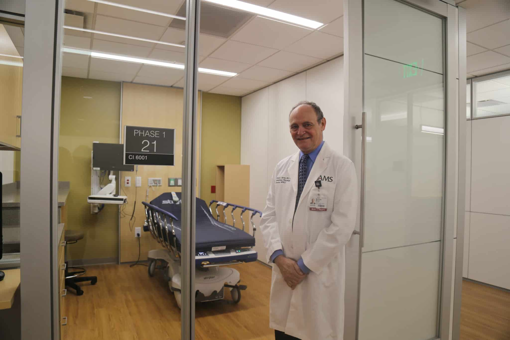 Dr. Birrer in Phase I Unit