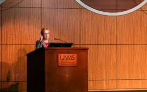 Laura James, M.D., director of the Translational Research Institute, shares information about the COVID-19 antibody research underway at UAMS.