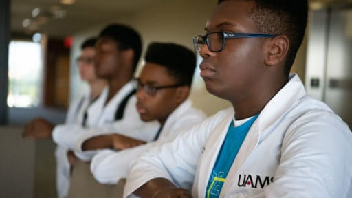 High school students considering careers in health care participate in the 2019 Academy of Pre-Health Scholars, a summer program that will be expanded and supported by the new, grant-funded Pathways Academy.
