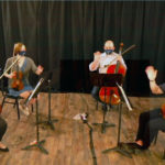 The Quapaw Quartet played a spring concert for UAMS employees livestreamed from Carver Elementary School.