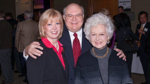 From left, Jean Maier Dean and John Blakney with the late Eleanor Karam. Karam's estate gift will help advance clinical care, research and education for older Arkansans.