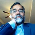 Tuhin Virmani, M.D., addresses participants in the virtual symposium.