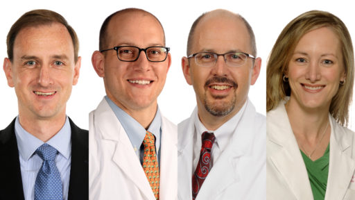 David Bumpass, M.D., Steve Cherney, M.D., Simon Mears, M.D., Ph.D., and Theresa Wyrick, M.D.