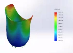 Prosthetic Computational Simulation Showing Displacement