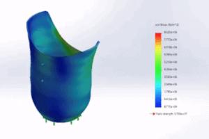 Prosthetic Computational Simulation Showing Strain