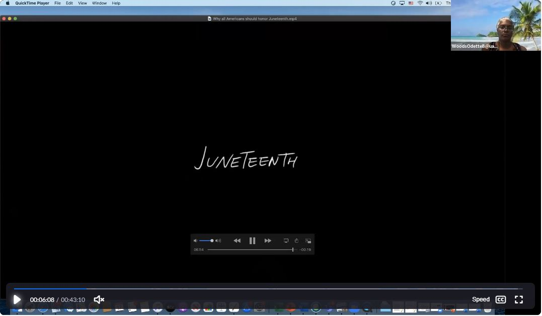 The online celebration included information videos, music and community sharing about Juneteenth celebrations.