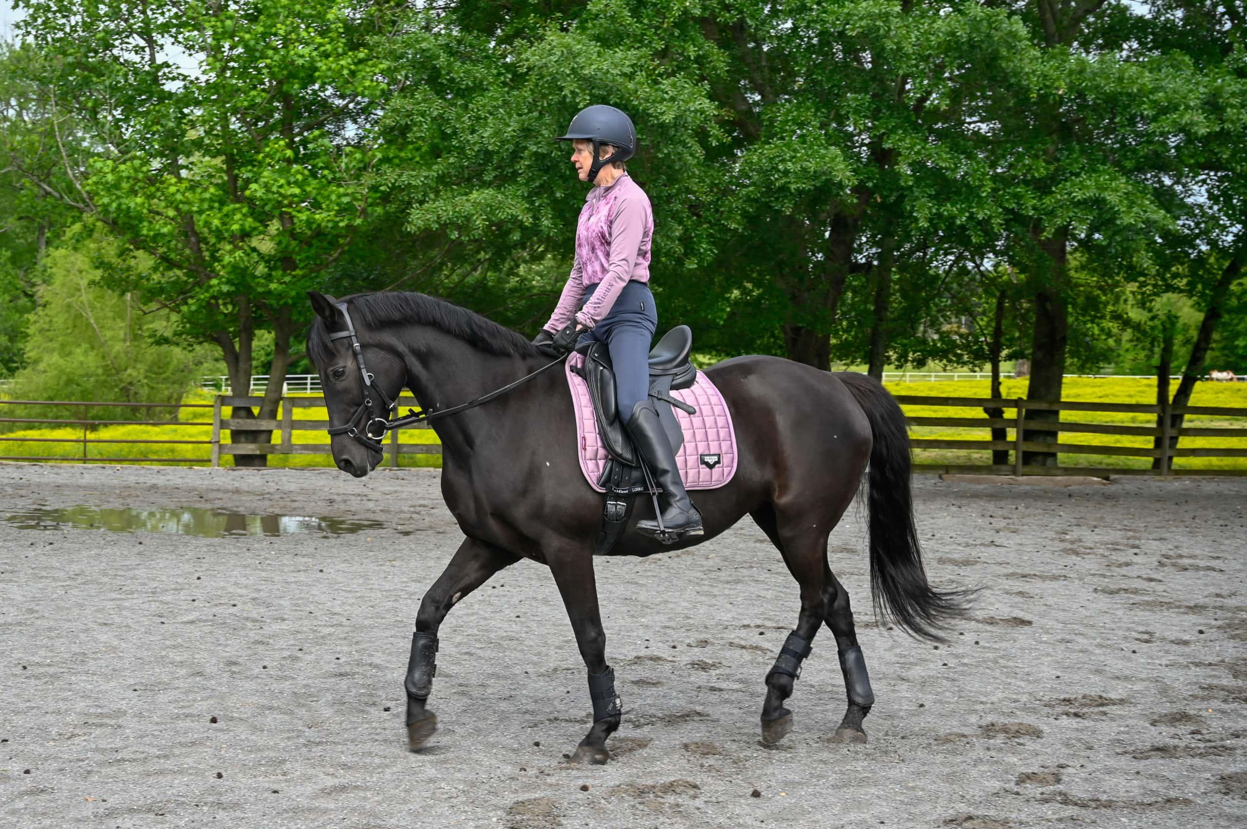Porter riding Jitterbug Dancer