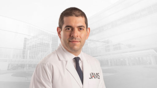 UAMS cardiologist Subhi Al'Aref, M.D., successfully used new shockwave technology to blast calcium deposits out of a patient's stent last month.