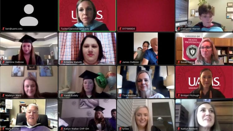 Graduates of the Dental Hygiene Class of 2021 seen here during their virtual graduation.