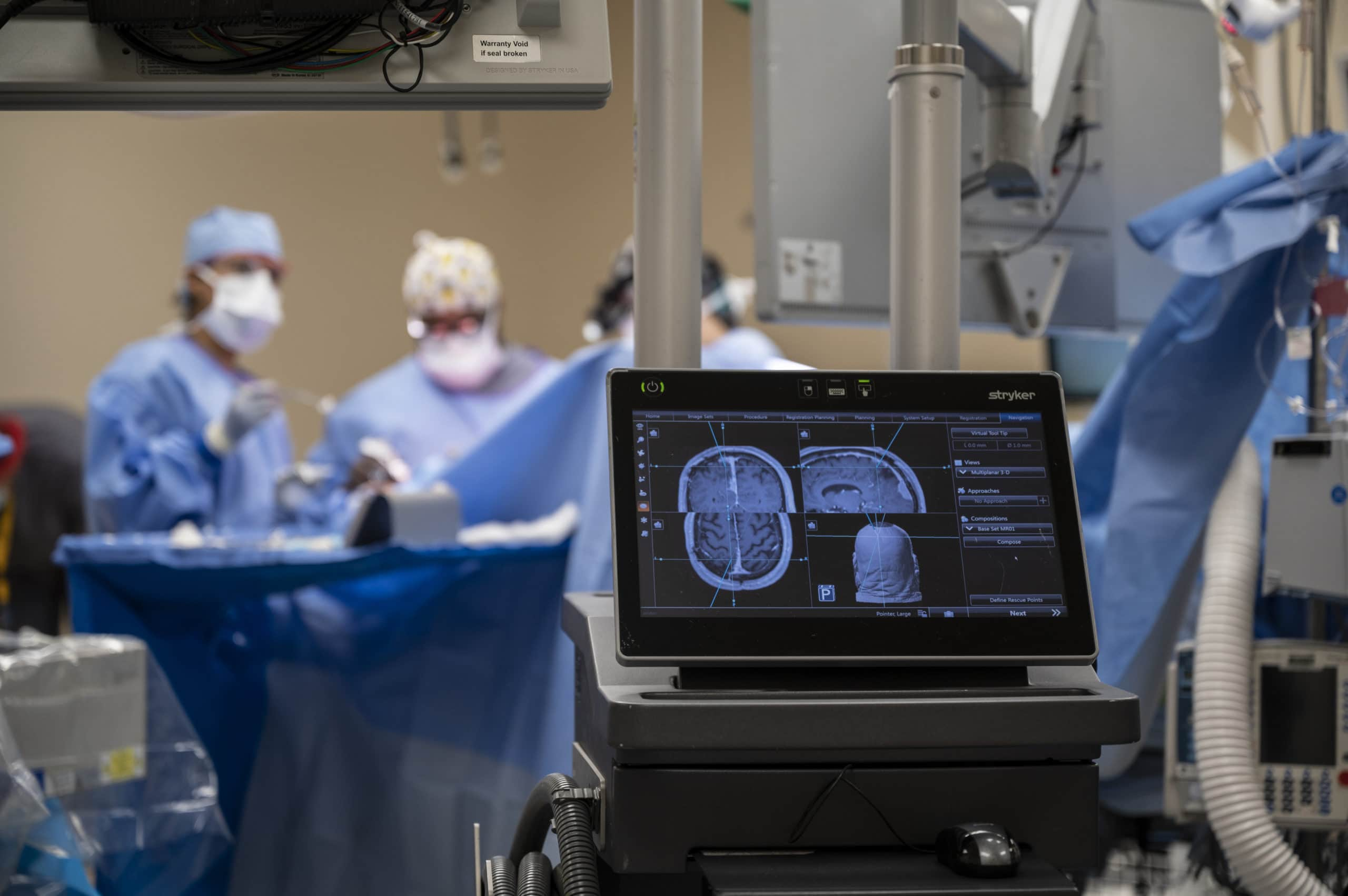 UAMS surgeons prepare to perform the first surgery in Arkansas using GammaTile Therapy or surgically targeted radiation therapy.