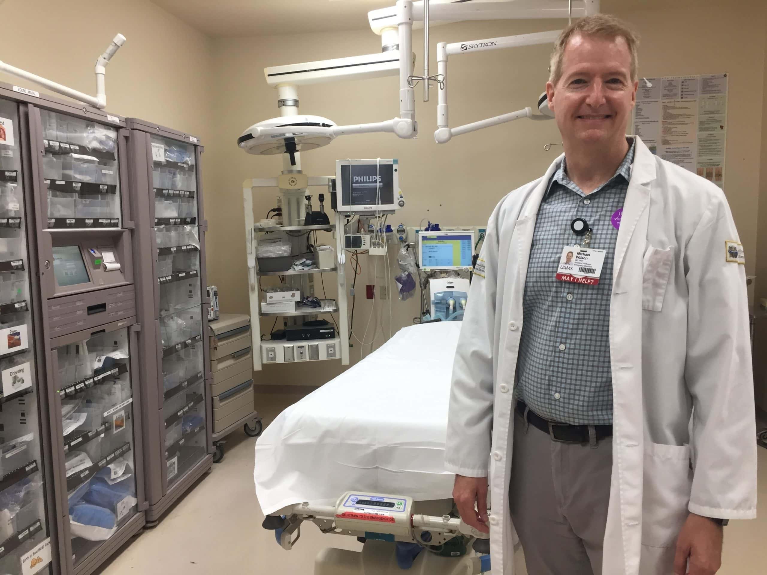 Michael Wilson, M.D., an assistant professor of Emergency Medicine, is studying how methamphetamine affects the human body, particularly how the body responds to stress.